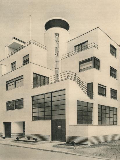 'House of M. M. Joel and Jan Martel, scupltors, Rue Mallet-Stevens, Auteuil', c1927-Unknown-Photographic Print