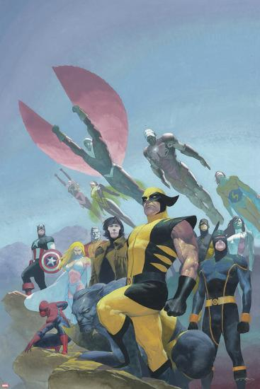 House of M MGC No.1 Cover: Wolverine, Cyclops, Gambit, Spider-Man, Captain America and Others-Esad Ribic-Art Print