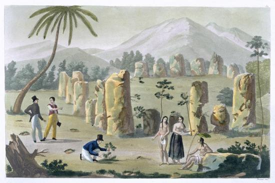 'House of the Ancients, Island of Tinian', c1820-1839-G Bramati-Giclee Print
