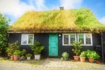 House of the Faroe Islands-Philippe Sainte-Laudy-Photographic Print
