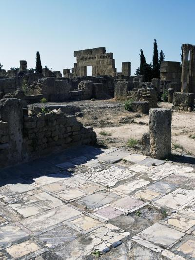 House of Treasury and House of Historiated Capitals, Ruins of Ancient Roman City of Utica, Tunisia--Giclee Print