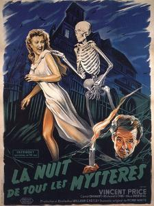 House On Haunted Hill, French Movie Poster, 1958