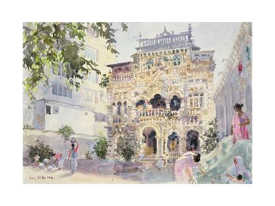House on the Hill, Bombay, 1991-Lucy Willis-Giclee Print