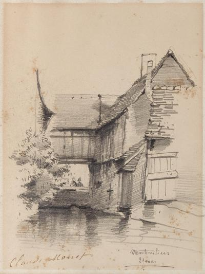 House on the Lezarde at Montivilliers, 1857-Claude Monet-Giclee Print