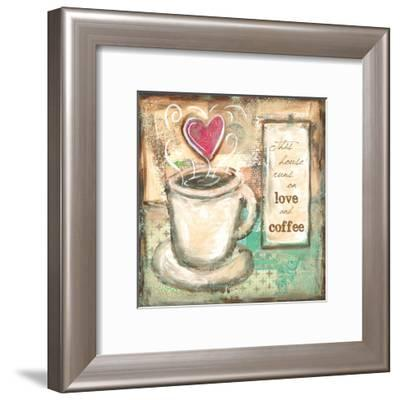 House Runs on Love and Coffee-Erin Butson-Framed Art Print