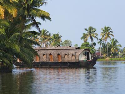 Houseboat on the Backwaters of Kerala, India-Keren Su-Photographic Print