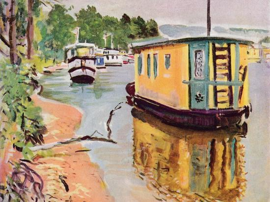 'Houseboats, Loch Lomond', c1924-George Leslie Hunter-Giclee Print