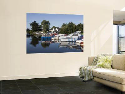 Houseboats on Shannon-Erne Waterway-Holger Leue-Wall Mural