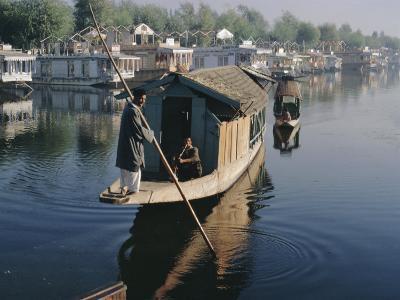 Houseboats on the Lake at Srinagar, Kashmir, Jammu and Kashmir State, India-Christina Gascoigne-Photographic Print