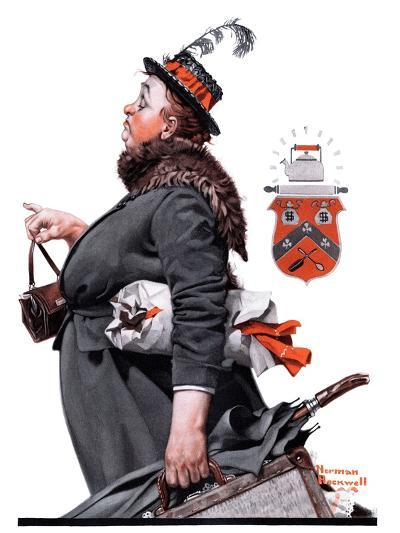 """""""Housekeeper"""", March 27,1920-Norman Rockwell-Giclee Print"""