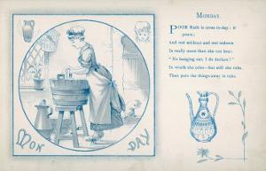 Housemaid Does the Laundry (Monday)