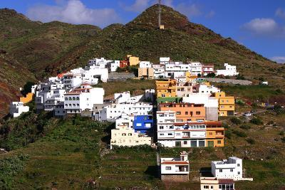 Houses Above the Town on a Mountainside, San Andres, Tenerife, Canary Islands, 2007-Peter Thompson-Photographic Print
