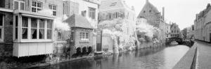 Houses Along a Channel, Bruges, West Flanders, Belgium