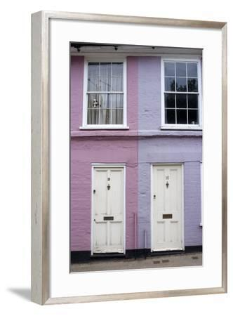 Houses Along Bridge Street Painted in Bright Colours, Bungay, Suffolk, England-Natalie Tepper-Framed Photo