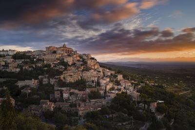 Houses and Buildings of Gordes as They Spiral Up around Rock Plateau High Above Luberon-Garry Ridsdale-Photographic Print