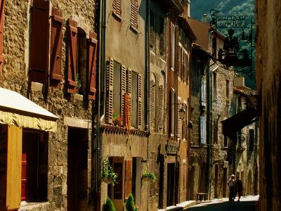 Houses and Other Buildings, Rue St. Jean, Villefranche de Conflent, Languedoc-Roussillon, France-David Tomlinson-Photographic Print