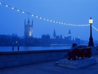 Houses and Parliament from Across the Thames, London, England, United Kingdom-Nick Wood-Photographic Print