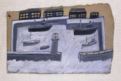 Houses and Ships-Alfred Wallis-Giclee Print