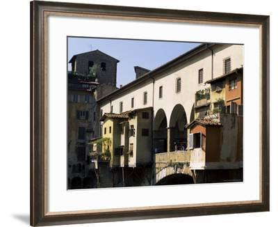Houses and Shops on the Ponte Vecchio, Florence, Tuscany, Italy-Lousie Murray-Framed Photographic Print