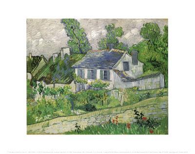 Houses at Auvers, c.1890-Vincent van Gogh-Art Print