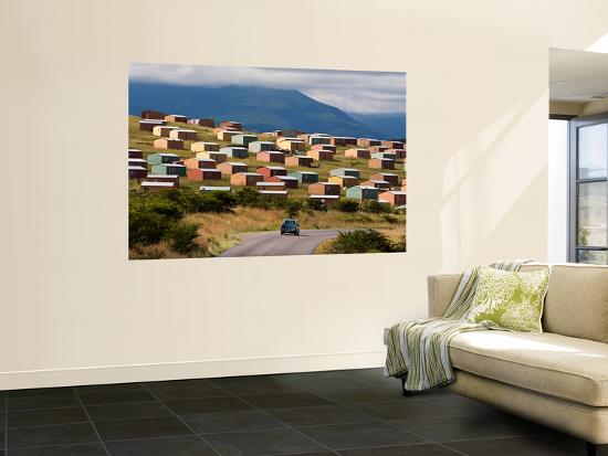 Houses at Informal Rural Settlement-Todd Lawson-Wall Mural