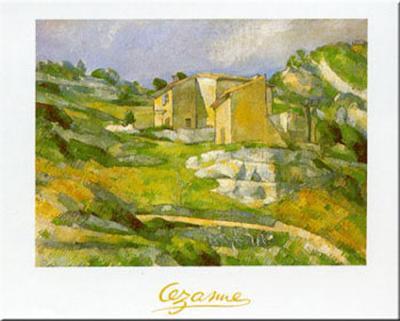 Houses at the Estaque-Paul C?zanne-Art Print