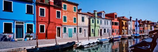 Houses at the Waterfront, Burano, Venetian Lagoon, Venice, Italy--Photographic Print
