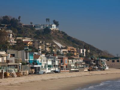 Houses at the Waterfront, Malibu, Los Angeles County, California, USA--Photographic Print