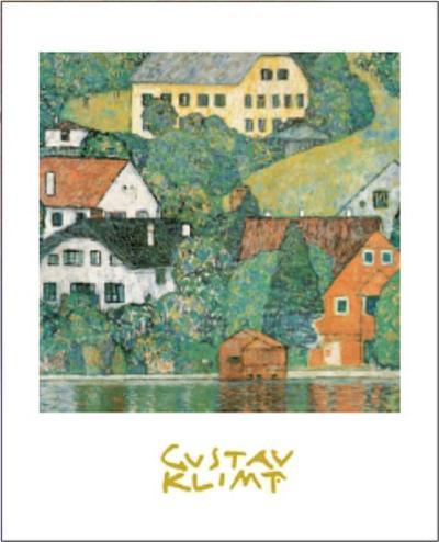 Houses at Unterach-Gustav Klimt-Art Print