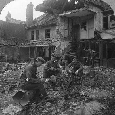 Houses Damaged by German Shellfire, Ypres Salient, Belgium, World War I, C1914-C1918--Photographic Print