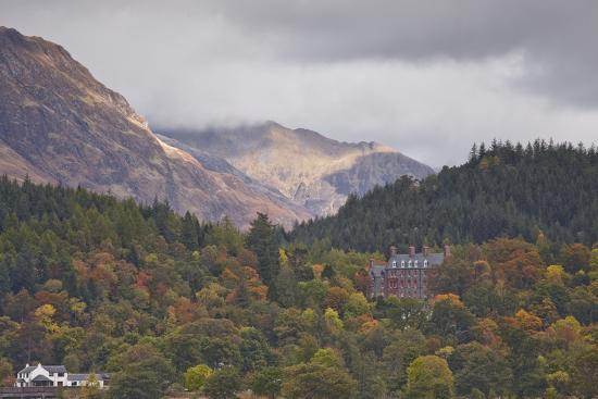 Houses Dotted on the Mountain Side in Glencoe, Highlands, Scotland, United Kingdom, Europe-Julian Elliott-Photographic Print