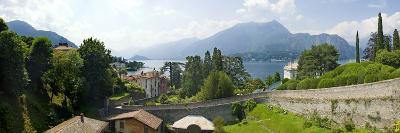 Houses in a Town, Villa Melzi, Lake Como, Bellagio, Como, Lombardy, Italy--Photographic Print