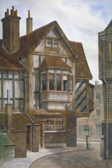 Houses in Bishopsgate, City of London, 1860-JL Stewart-Giclee Print