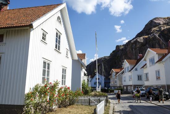 Houses in Fjallbacka, Bohuslan Region, West Coast, Sweden, Scandinavia, Europe-Yadid Levy-Photographic Print