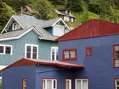 Houses in Juneau, Southeast Alaska, USA-Richard Cummins-Photographic Print