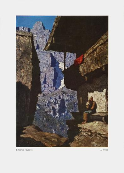 Houses in Loneliness-Alfons Walde-Art Print