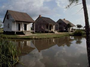 Houses in the Bayou Country of Louisiana