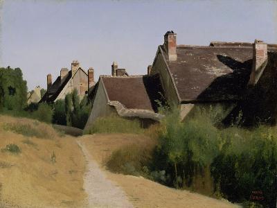 Houses near Orléans. c.1830-Jean-Baptiste-Camille Corot-Giclee Print