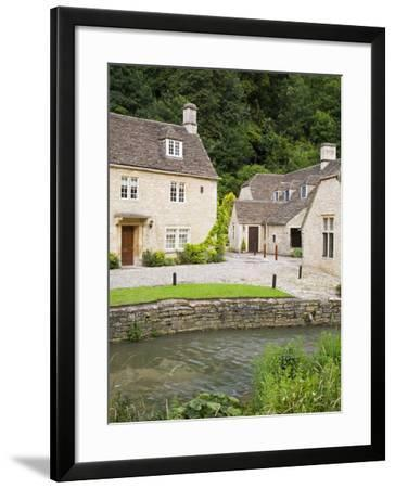 Houses Near the Brook, Castle Combe Village, Cotswolds, Wiltshire-Richard Cummins-Framed Photographic Print