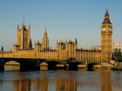 Houses of Parliament and Big Ben, Westminster, London-Charles Bowman-Photographic Print