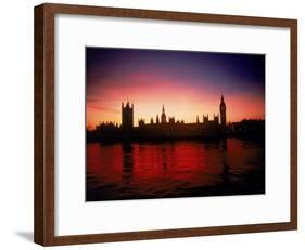 Houses of Parliament at Dusk, London, England-Terry Why-Framed Photographic Print