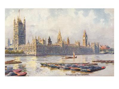 Houses of Parliament, London, England--Art Print