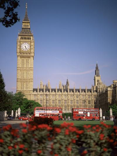 Houses of Parliament, Unesco World Heritage Site, and Parliament Square, London-G Richardson-Photographic Print