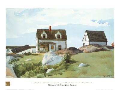 Houses Of Squam Light-Edward Hopper-Art Print