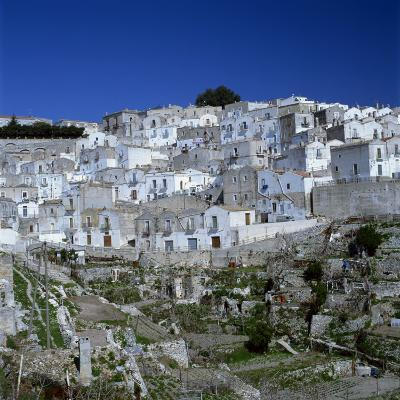 Houses of the Village of Monte Sant Angelo in Puglia, Italy, Europe-Tony Gervis-Photographic Print