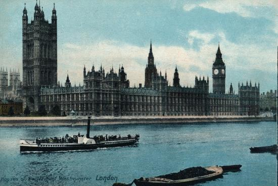 'Houses of Westminster, London', 1907, (c1900-1930)-Unknown-Giclee Print