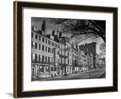 Houses on Beacon Street-Walter Sanders-Framed Photographic Print