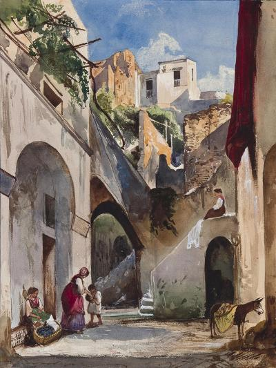 Houses on the Costiera of the Sorrentine Peninsula-Giacinto Gigante-Giclee Print