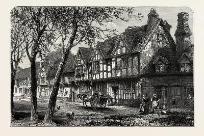 Houses, Under, the Castle, Warwick, UK, 19th Century--Giclee Print
