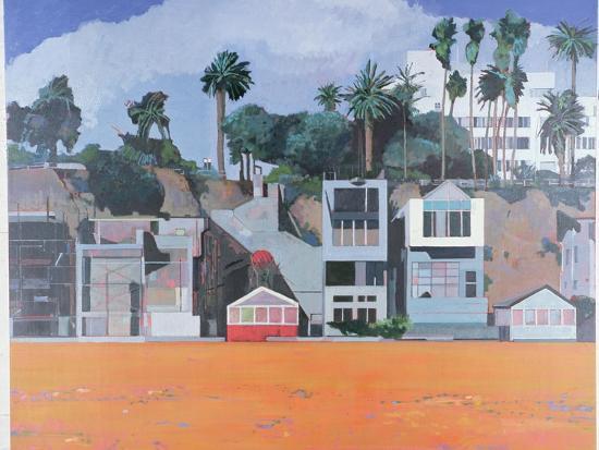 Houses under the Cliff, Santa Monica, USA, 2002-Peter Wilson-Giclee Print